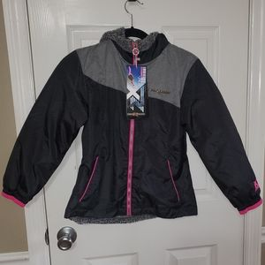 New Girls S 7/8 ZeroXposur Gray Pink ZX 360 Coat